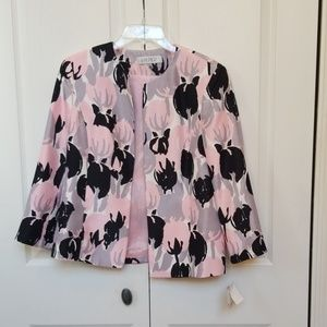 NWT Kasper Pink/black/gray/white jacket